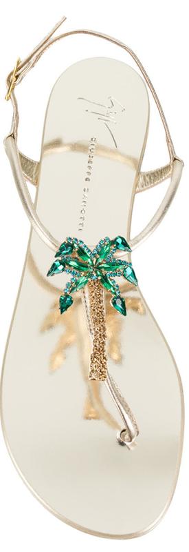 Giuseppe Zanotti Design  Sahara Sandals in Gold