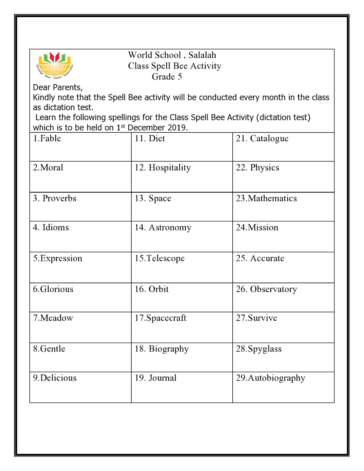 small resolution of WORLD SCHOOL OMAN: Homework for Grade 5 as on 12-11-2019