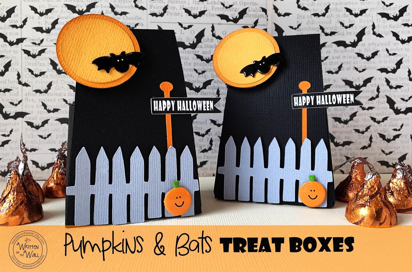 Halloween Londra.It S Written On The Wall Halloween Moonlight Bats Treat Boxes