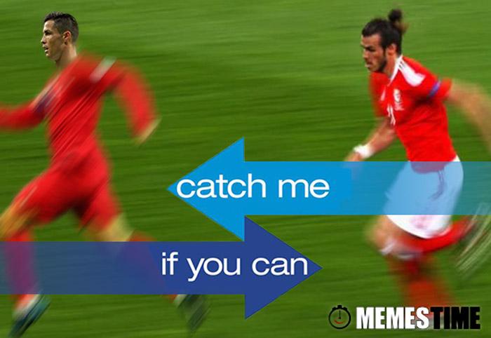Meme Cristiano Ronaldo & Gareth Bale - Catch Me If You Can