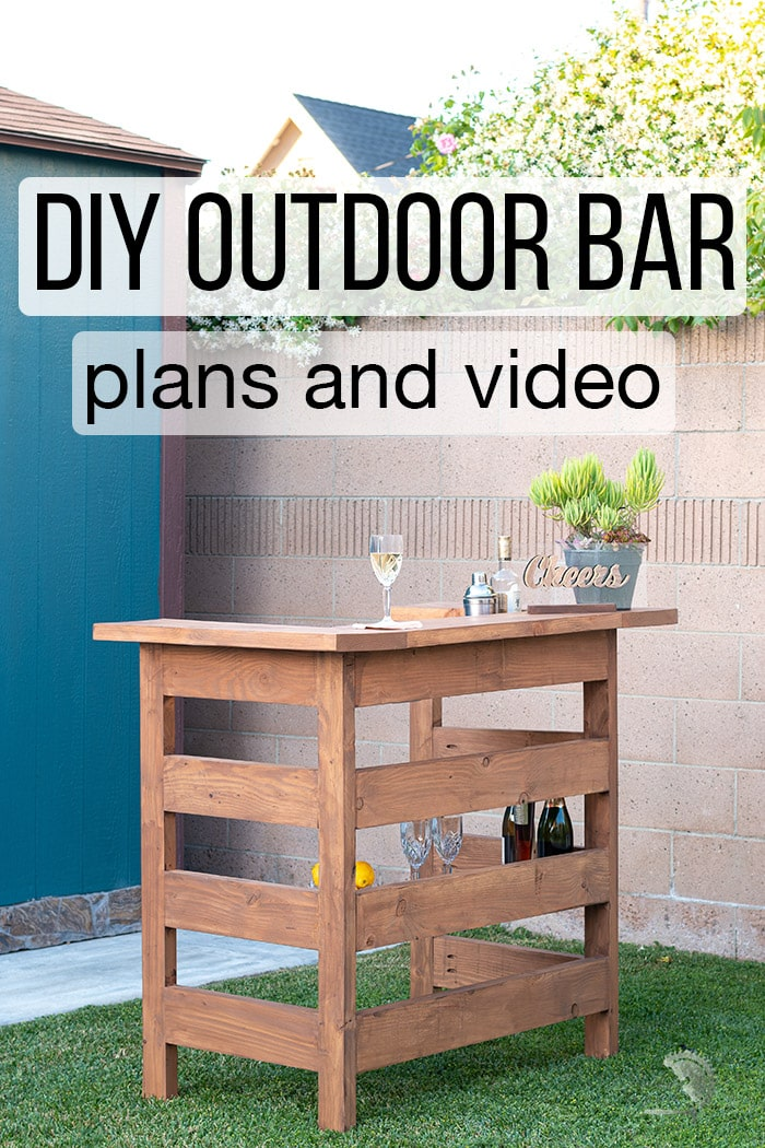 DIY outdoor bar build