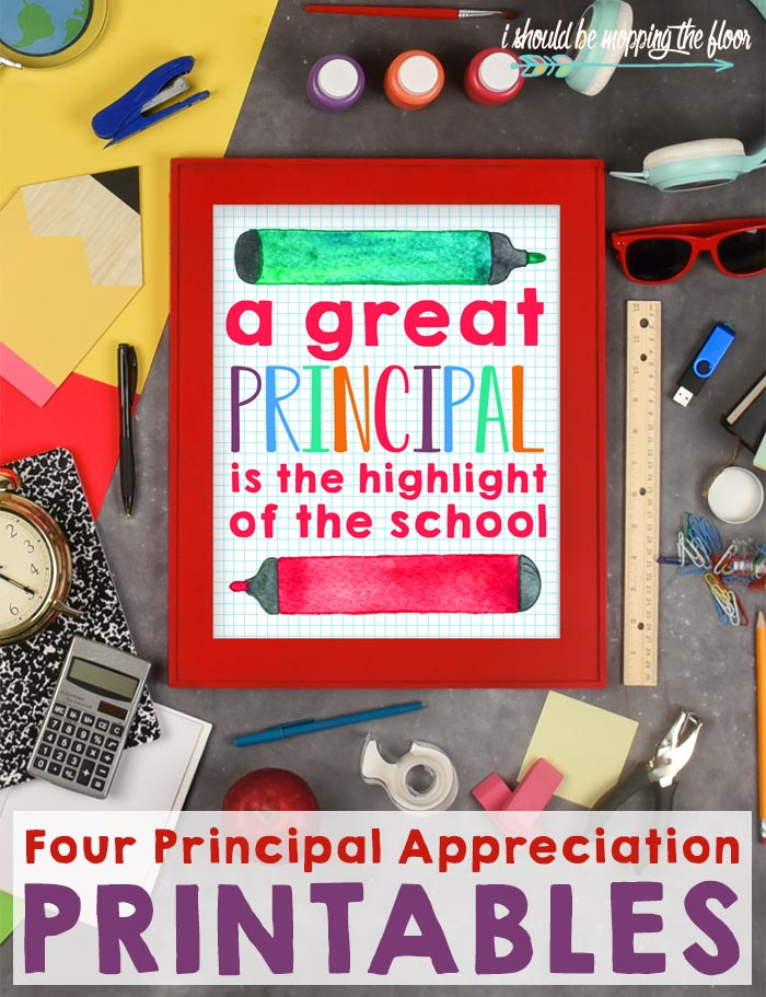 Principal Appreciation Printables