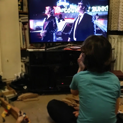 Boy watching The Blues Brothers