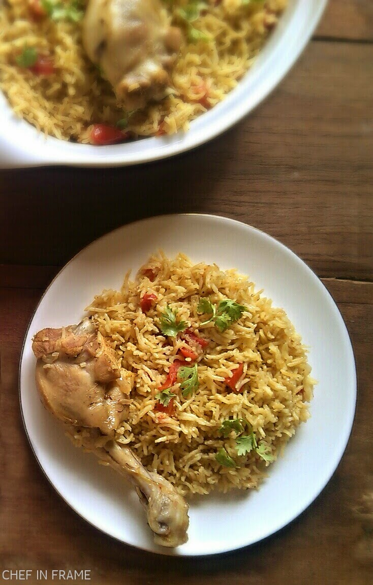 Bahraini Chicken and Spicy Rice Recipe. Chicken Machbous