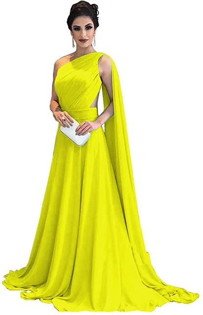 Elegant Yellow Chiffon Bridesmaid Dresses
