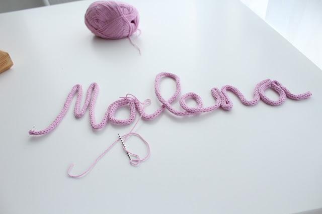 tutorial nombre en capazo con tricotin