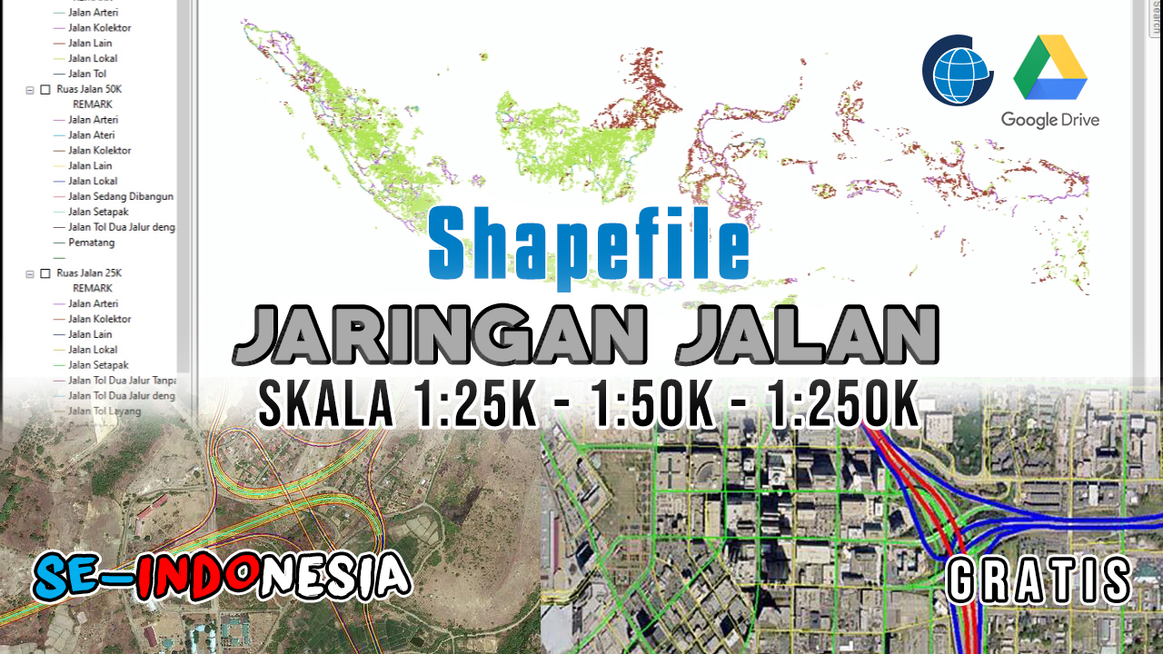 Data Shapefile Jalan Indonesia Terlengkap Gratis