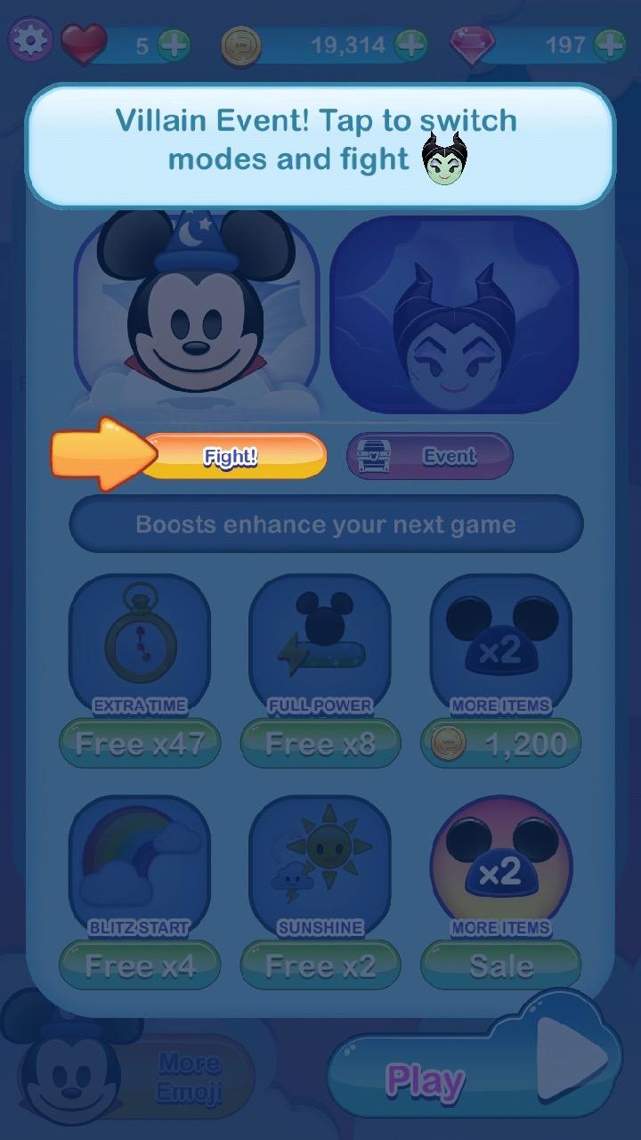 Video Game Screenshots Disney Emoji Blitz Maleficent