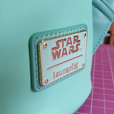Loungefly Naboo Star Wars back pack review close up metal label excellent quality