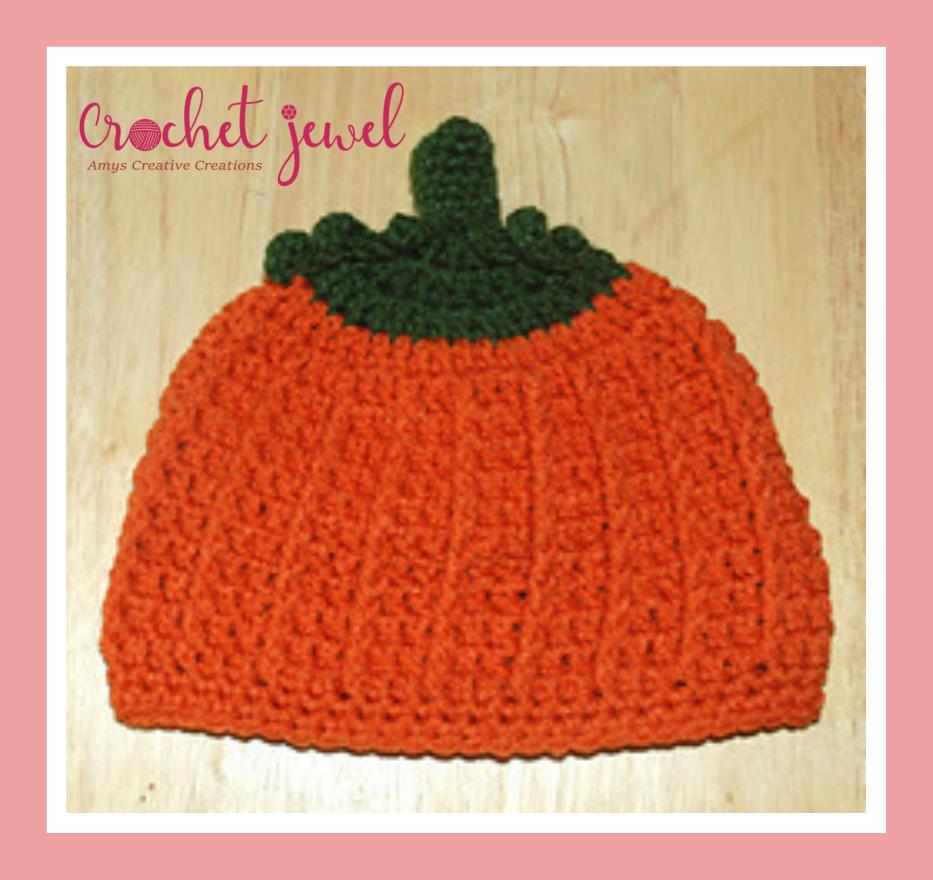 Amys Crochet Creative Creations Crochet Pumpkin Hat All Sizes