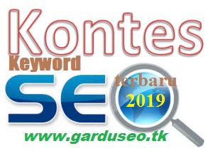 Kontes Keyword bergengsi 2019 (UPDATE) versi Gardu SEO