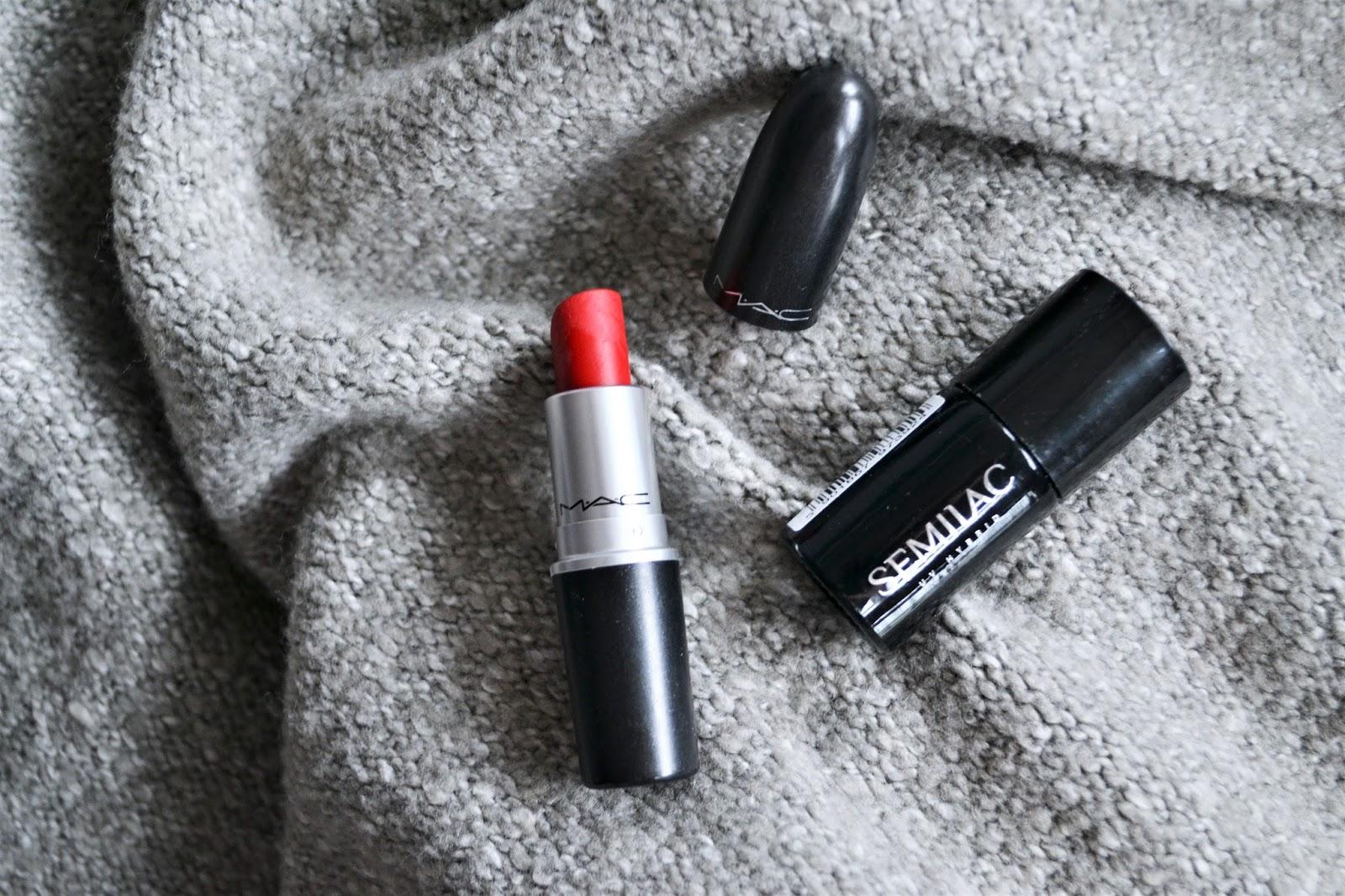 Czerwone paznokcie, moja propozycja na walentynki | Semilac