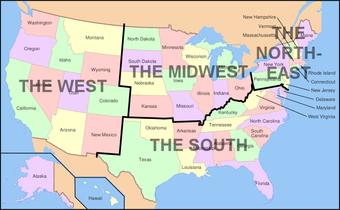 Printable Regional Maps United States