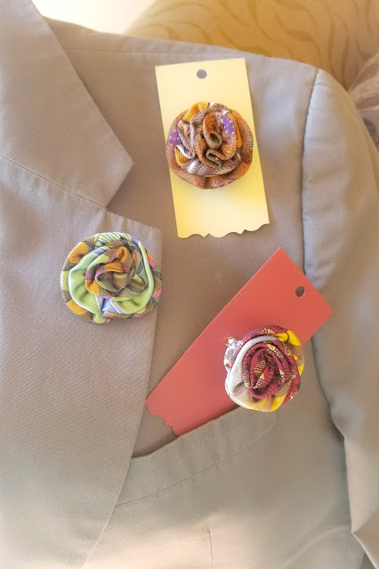 How to repurpose fabrics for making lapel pins for men