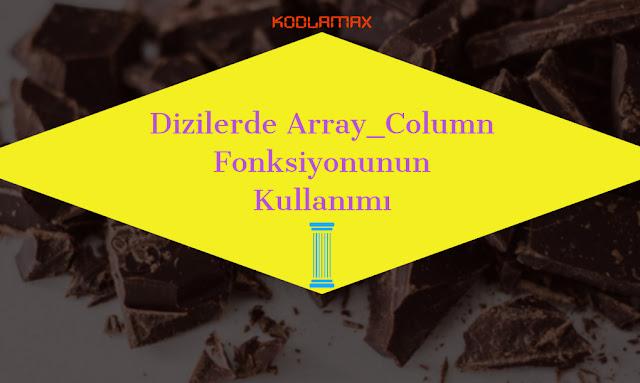 Dizilerde Array_Column Fonksiyonunun Kullanımı