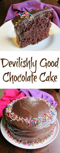 This is THE PERFECT chocolate cake! It's easy to make, the texture is soft, and it's devilishly good. Do yourself a favor and make it ASAP!
