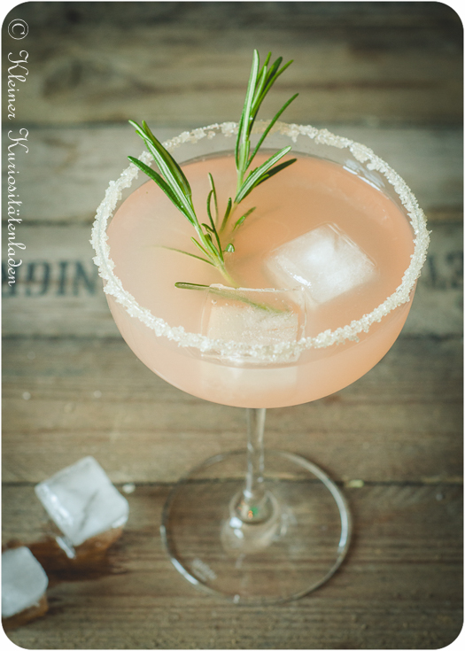 Pink Grapefruit Rosemary Greyhound