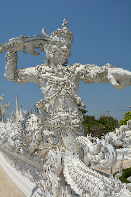 White Temple Chiang Rai guard