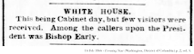 News clipping; 16 Feb 1866 - Evening Star (Washington, District of Columbia) p. 2, col. 5.