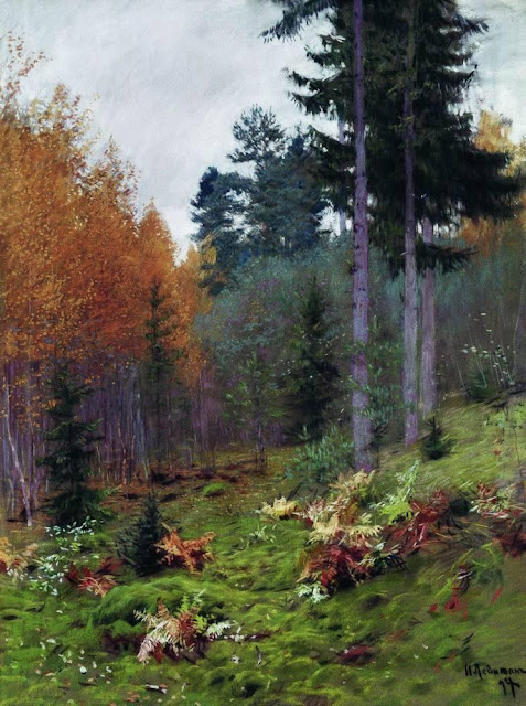 Исаак Ильич Левитан - В лесу осенью. 1894