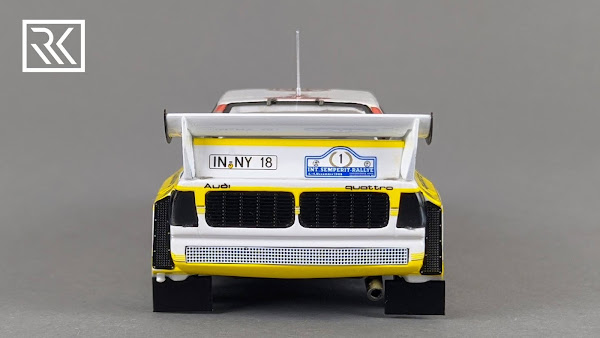 Zdjęcie modelu Spark Audi Sport Quattro S1, Walter Rohrl & Christian Geistdorfer, Winner International Semperit Rally 1985, Limited edition for Rallye-Fanshop 1 of 300