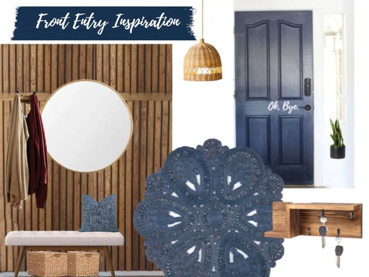 Front Entry Inspiration Board and Before Pictures!