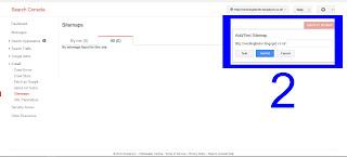 cara memasukan peta situs google webmaster