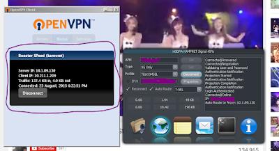 Menggunakan OpenVPN Di PC Untuk Berinternet Gratis