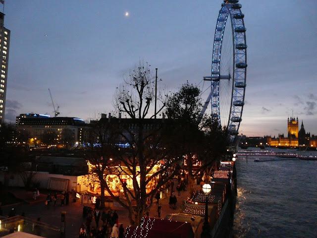 Londres Marché de Noël à London Eye
