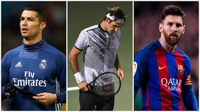 Federer surpasses Ronaldo, Messi as top-earning athlete