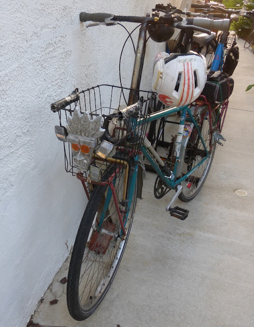 Aku Aku on my bike