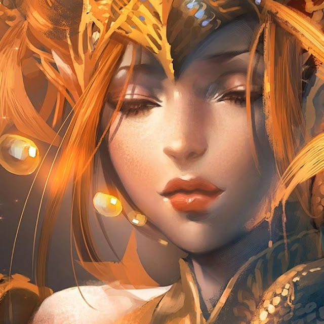 Fantasy Golden Woman Wallpaper Engine