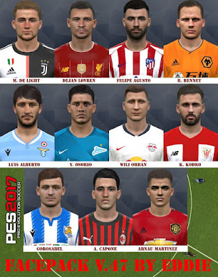 PES 2017 Facepack v47 by Eddie Facemaker