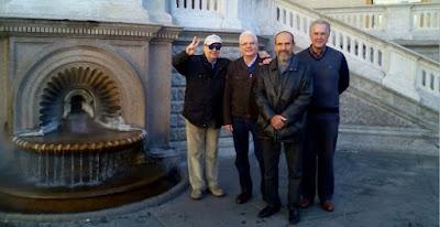 Los ajedrecistas Jaume Anguera, Emili Simón, Guillem Buxadé y Tomàs Serra