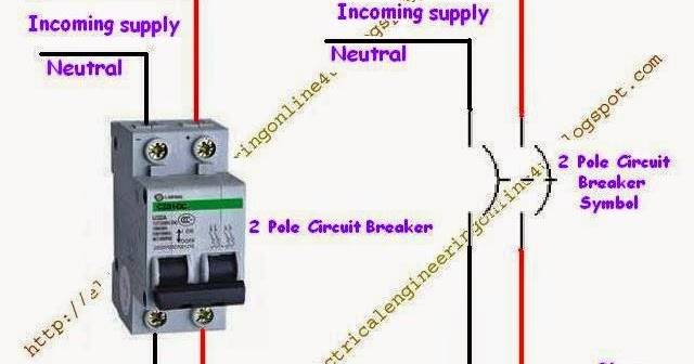 how to wire a double pole circuit breaker  electricalonline4u