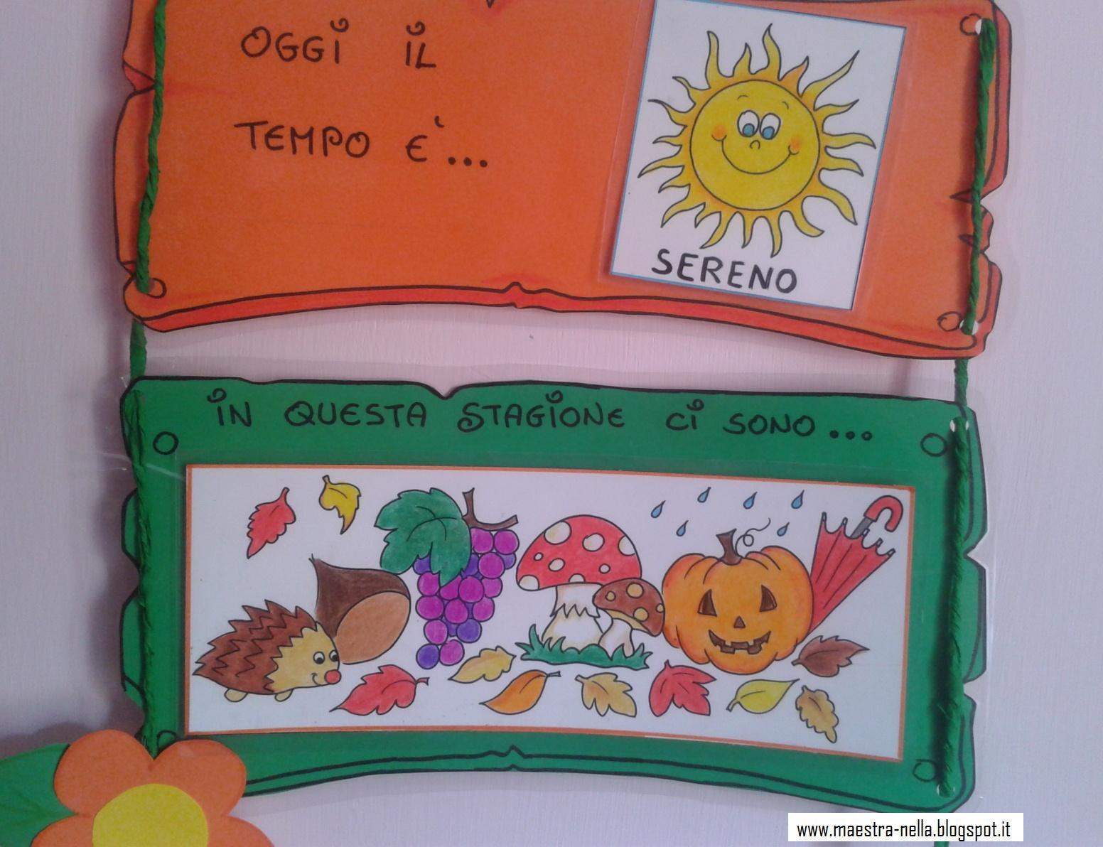 Calendario Del Tempo Scuola Infanzia.Maestra Nella Il Calendario