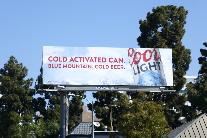 Cold Activated Can Coors Light billboard