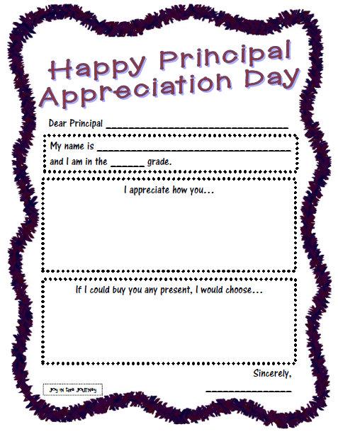 Principal Appreciation Poems
