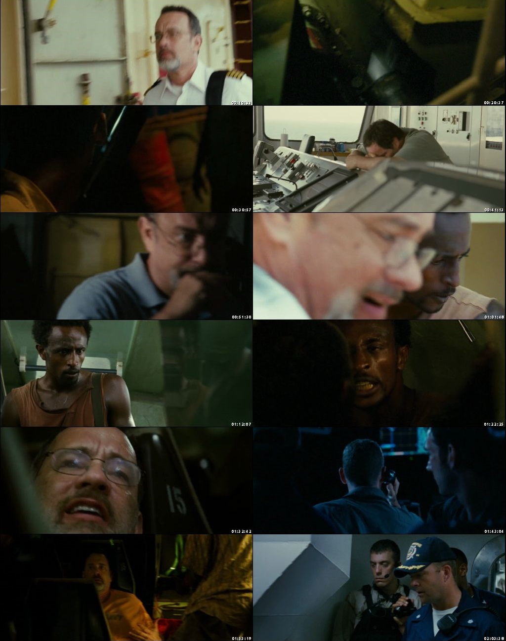 Screen Shot Of Captain Phillips 2013 300MB Full Movie Hindi Dubbed Free Download 480P BRRip Small Size PC Movie