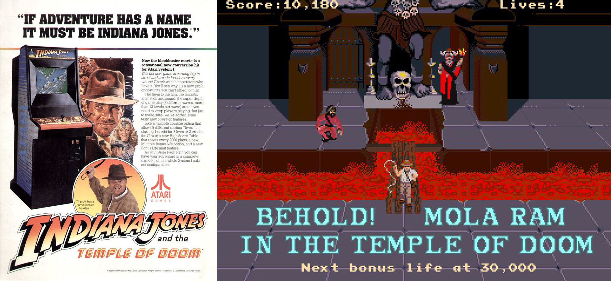 Indiana Jones and the Temple of Doom arcade 1985