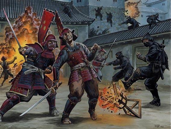 ninja dressed as samurai