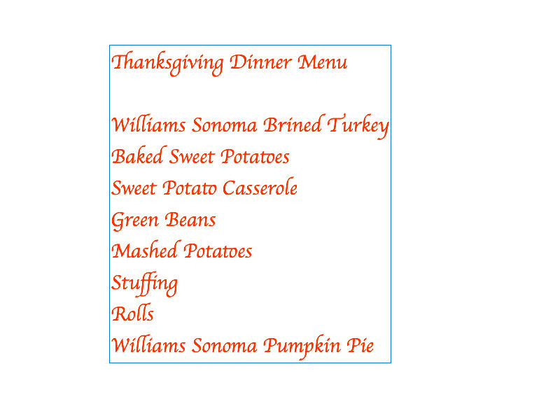 Making the Moment Matter Thanksgiving Dinner Menu and Place card ideas