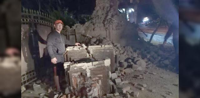 Sejumlah Rumah Dan Masjid Rusak Akibat Gempa Di Timur Laut Situbondo
