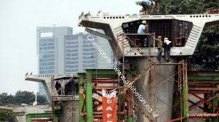 pembangunan pondasi beton