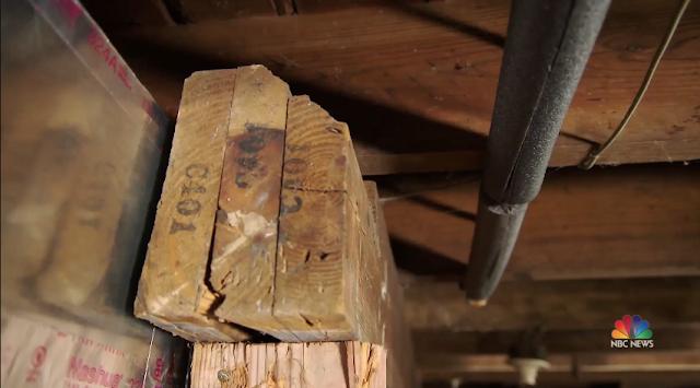 sears letter number combo mark on framing lumber of Sears Hamilton in Novi Michigan