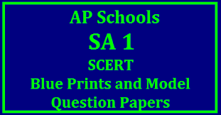 AP SA 1 Exam lue Print for Obbjective type Question paperr preparation for 8th and 9th classes