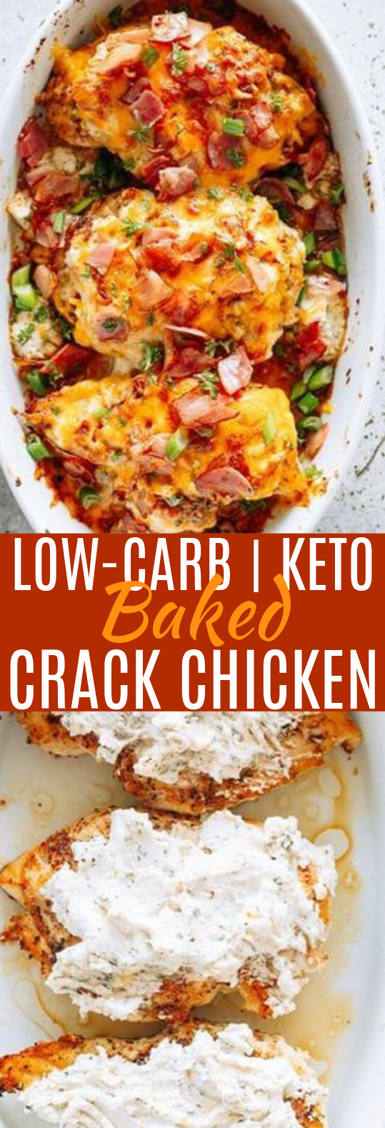 Baked Crack Chicken Breasts #keto #lowcarb