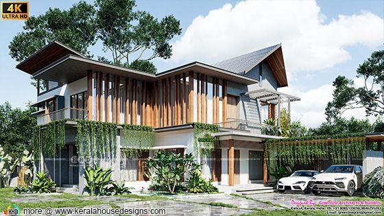 Tropical modern house rendering