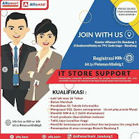 Penerimaan karyawan Alfamart sedang dibuka dibidang IT Lowongan IT Store Support Alfamart Bandung