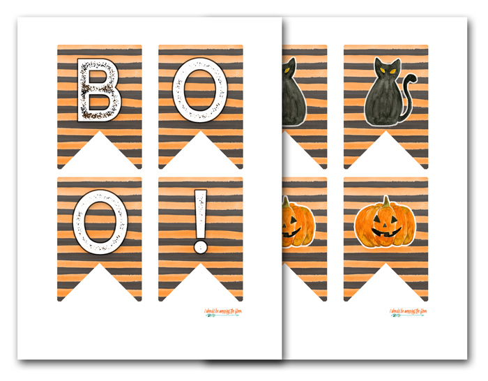 photo about Halloween Banner Printable known as Free of charge Halloween Banner Printable i need to be mopping the flooring